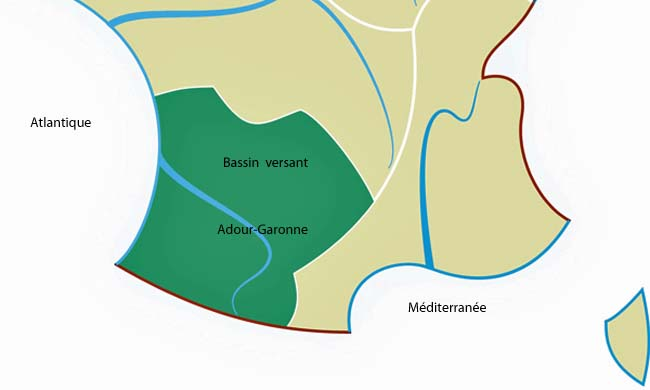 Le bassin versant adour garonne et les cons quences de la s cheresse - Bassin naturel sans bache bordeaux ...