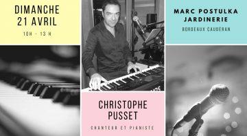 Concert Christophe Pusset, Pâques en chanson chez Marc Postulka