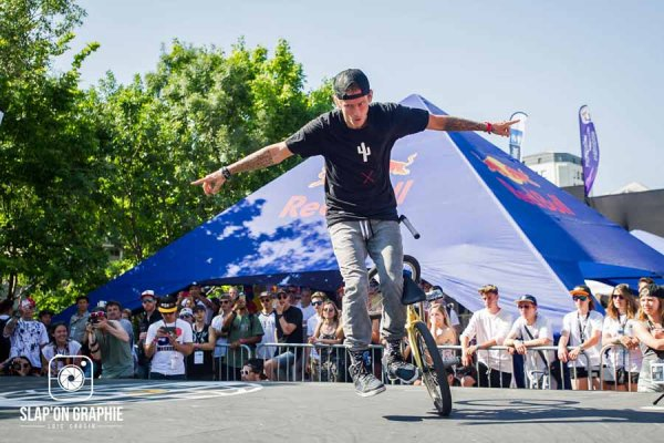 Jean-William Prevost gagnant du BMX FLAT PRO :