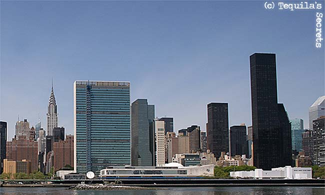 Immeuble de l'ONU face à l'East River
