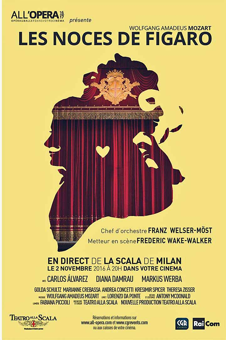 LES NOCES DE FIGARO - ALL'OPERA (CGR EVENTS) Uniquement le 2 novembre